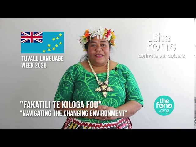 The Fono | Tuvalu Language Week 2020 | Closing message from Laine Steven | 'Fakatili Te Kiloga Fou'