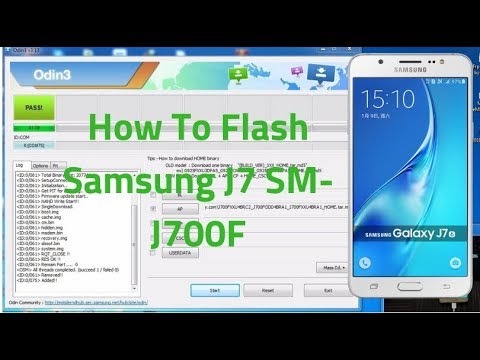 How To Flash Samsung J7 SM-J700F Latest Firmware With Odin Tool