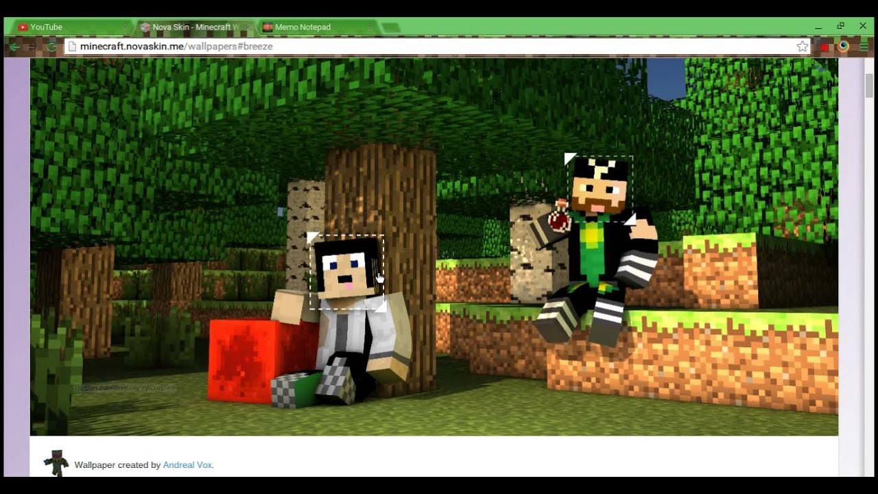 Cool minecraft skin wallpaper maker youtube - Minecraft wallpaper creator online ...