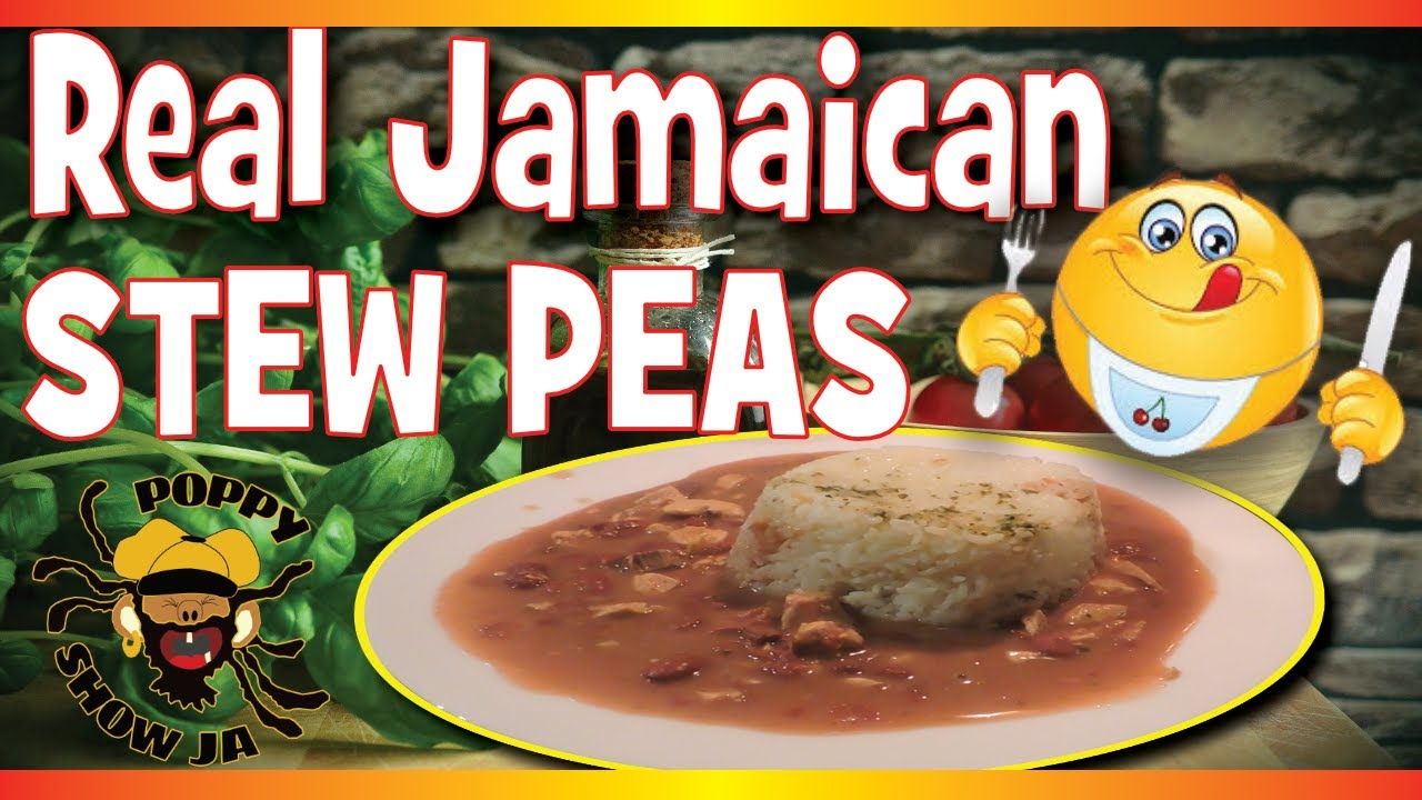jamaican stew peas with chicken  beef  easy to make and