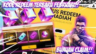 BURUAN CLAIM!! KODE REDEEM FREE FIRE TERBARU FEBRUARI 2020 - GARENA FREE FIRE INDONESIA