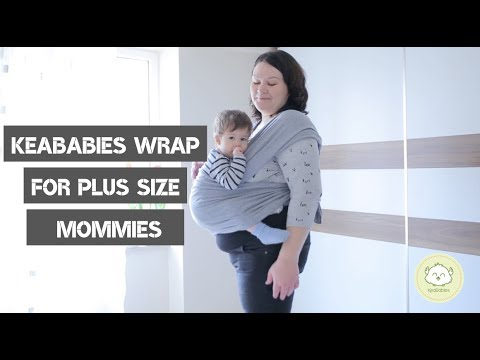 Keababies Baby Wrap Carrier For Plus Size Mommies