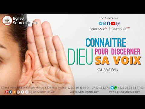 KOUAME Félix  | Connaître Dieu pour mieux discerner sa voix