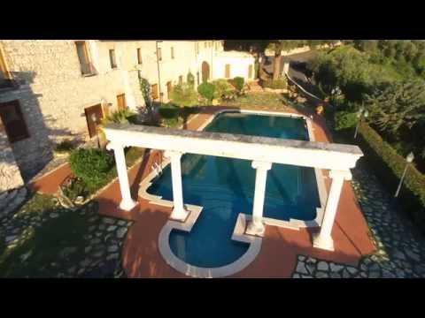 Castle & Swimming Pool in Tivoli Near Rome - Drone Video