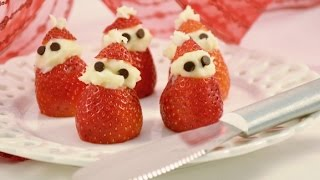 Strawberry Cream Cheese Santa Treats | RadaCutlery.com