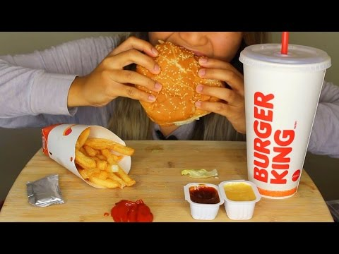 ASMR: Burger King Whopper, Fries and Chocolate Pie *Eating S