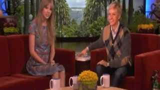 Taylor Swift Scared on Ellen 4 Times