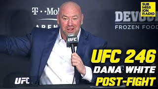 Download UFC 246: Dana White Reacts to Conor McGregor Win Over Cowboy Cerrone | Post-Fight Press Conference Mp3 and Videos