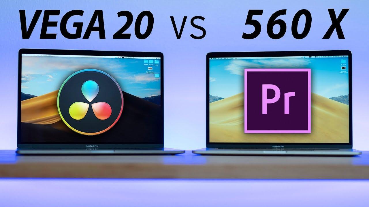 Vega 20 vs 560X MacBook Pro for Premiere & Resolve Video Editing!