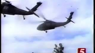 Two BlackHawk Helicopters Crash Each Other During Ejercises