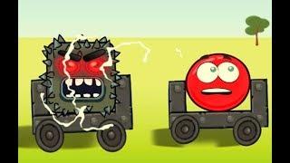 Мультик - Красный шар против страшного квадрата с бензопилой. Мультики для детей про несносный шар.