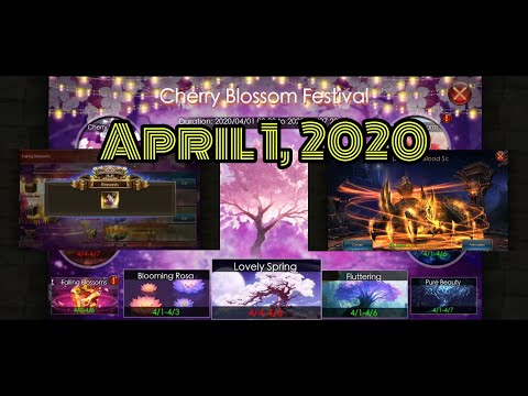 April 1, 2020 Event. Cherry Blossom Festival.  | Legacy Of Discord