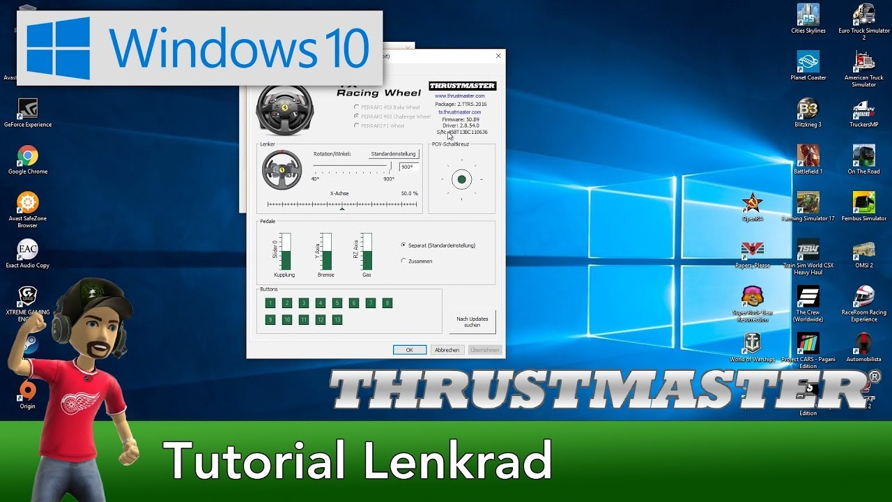 Tutorial | Thrustmaster Lenkrad Windows 10