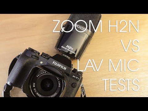 ZOOM H2N ON FUJI X-T1 VS BOYA LM-20 LAV MIC AUDIO TESTS