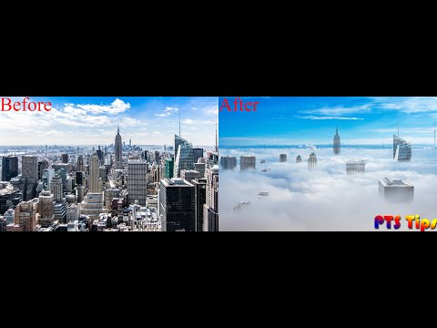 Photoshop Tips - City on clouds | Photoshop tutorial thumbnail