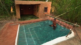 Add Awesome Paradise Swimming Pool In Front Admirable House Villa