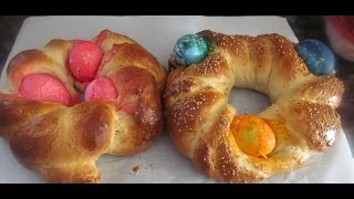 Easter Bread With Colored Eggs/ Recipe 37