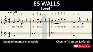 not angka es krim walls - piano level 1