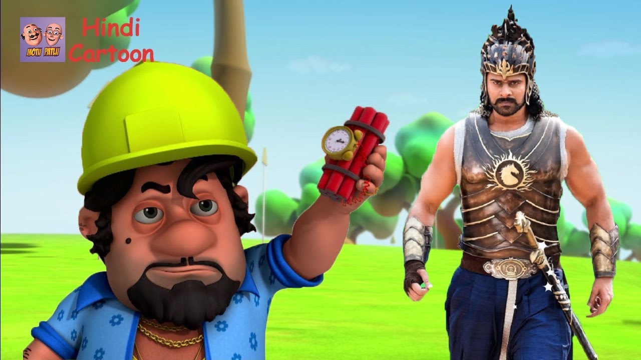 Motu Vs John And Bahubali 2 Motu Patlu Coloring In Hindi 3d