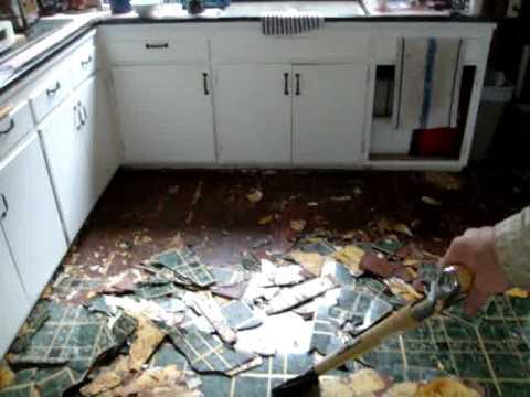 Kitchen floor Replacement 003 - YouTube