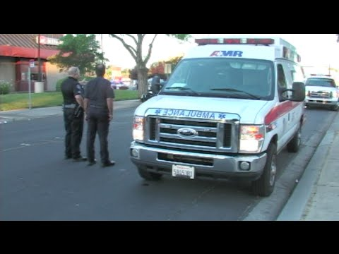 Woman Steals Ambulance - Police Chase Ambulance In Modesto, California - News Story