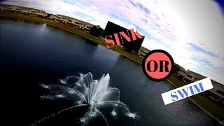 Flying over water with a drone