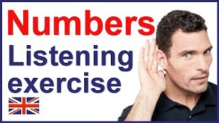 Numbers listening exercise - English test