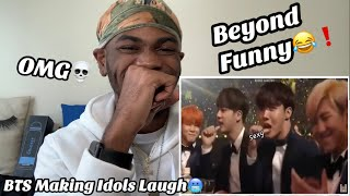 BTS MAKING IDOLS LAUGH / BTS FUNNY MOMENTS REACTION!!!