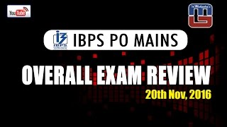 overall exam review   ibps po mains   20 11 2016