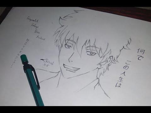 """How To Draw """"Sakata Gintoki"""" By: Riz Shiro"""