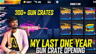 My Last One Year Gun Crate Opening Today | Free Fire Gun Crate Opening 300+ Crates😱| Gaming Tamizhan