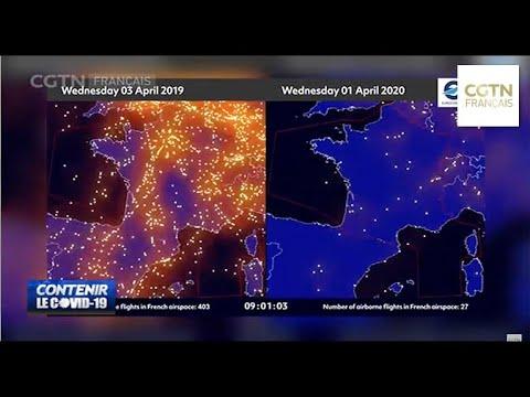 Le trafic aérien fortement réduit en Europe