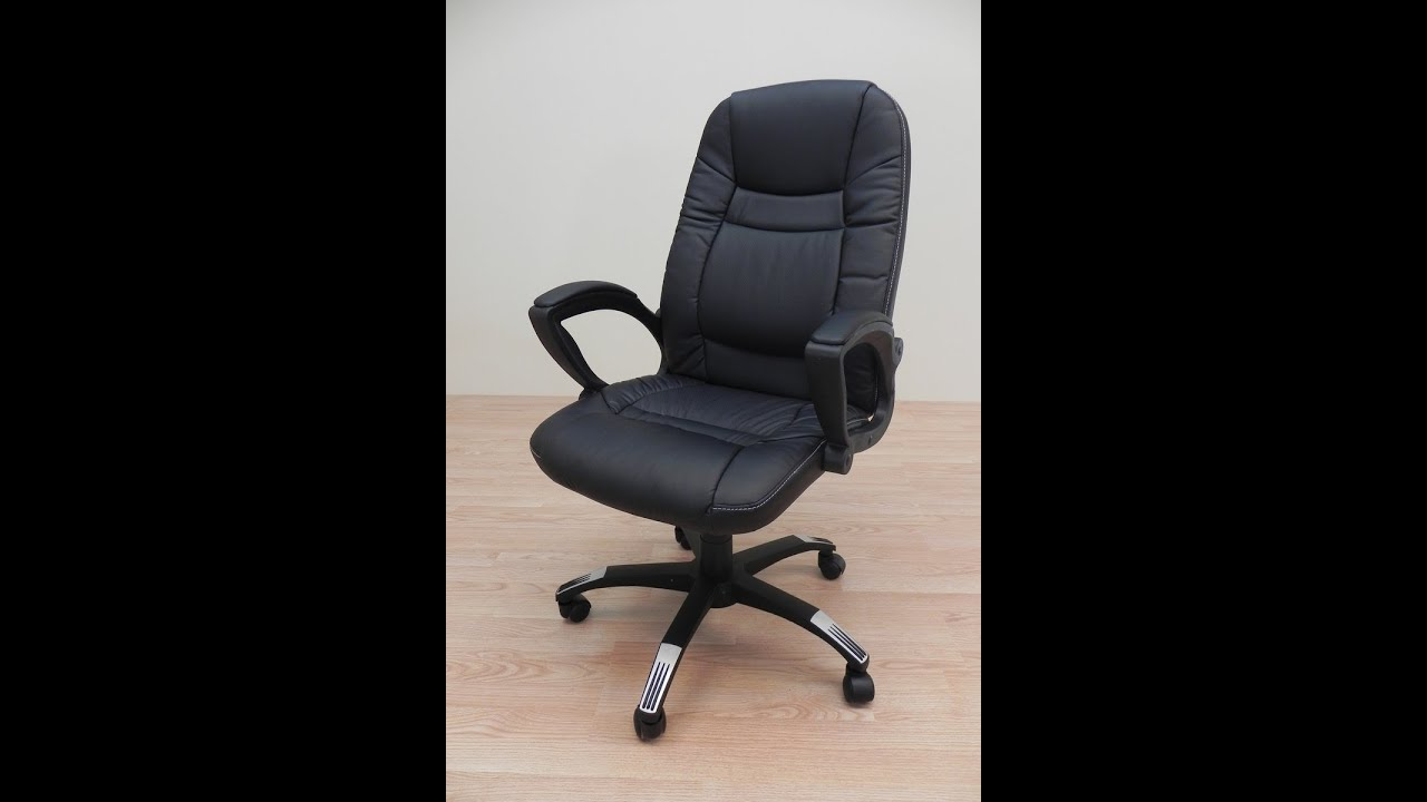 Silla o sillon de oficina de polipiel negra o beige re for Sillas polipiel beige