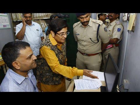 Dr. Kiran Bedi at a #Police Station