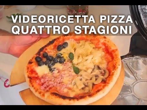 pizza quattro stagioni ricetta della vera pizza napoletana fatta in casa youtube. Black Bedroom Furniture Sets. Home Design Ideas