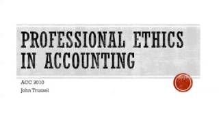 Professional Ethics Accounting