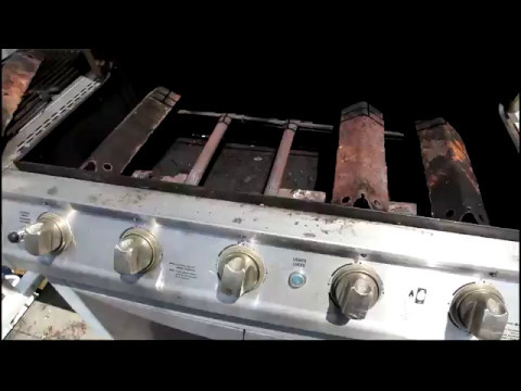 Install new Crossover, Electrode Igniter, and Cooking Grid - Brinkman Grill