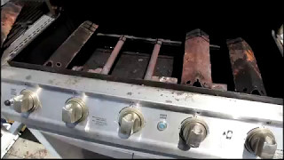 install new crossover electrode igniter and cooking grid brinkman grill