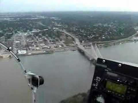 Bell 47 Over Burlington Iowa