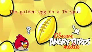 Obscure Angry Birds Media: The golden egg on A TV spot