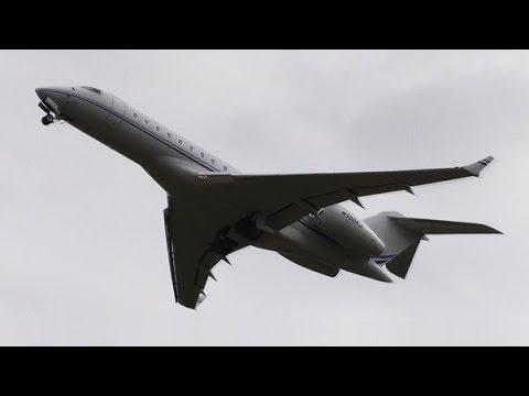 JFW LEASING   N700KJ   BOMBARDIER BD-700 Global Express at Leeds Bradford Airport   RWY32