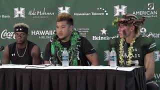 Hawaii Football Postgame Press Conference vs Duquesne (Players)