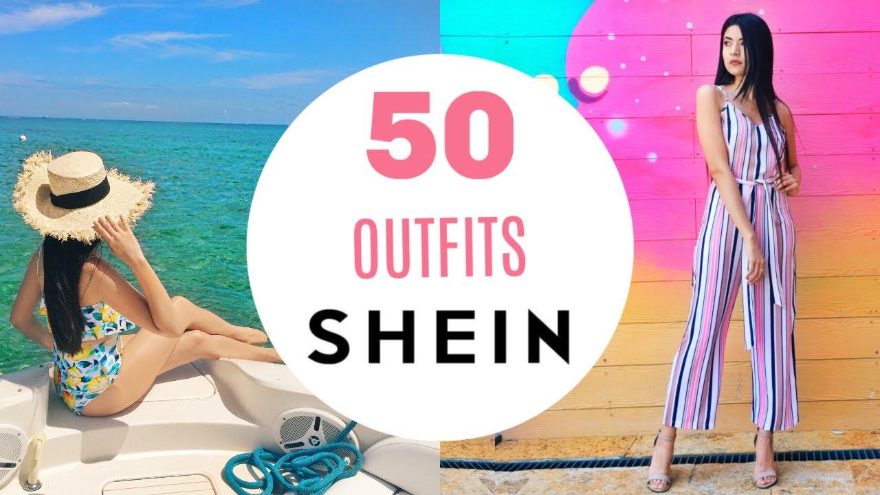 MEGA HAUL SHEIN VERANO 2020 ✨ 50 OUTFITS Purpleshe