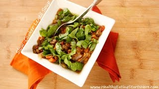 Slow-cooker Vegetable Lentil Soup