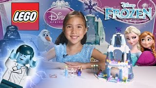 ELSA'S SPARKLING ICE CASTLE - LEGO Disney FROZEN Set 41062 Time-Lapse & Stop Motion