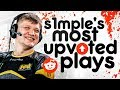 S1MPLE'S MOST UPVOTED REDDIT MOMENTS OF ALL TIME! (INSANE PLAYS)