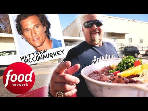 Guy Fieri Tries Brazilian Food Truck Recommended By Matthew McConaughey | Diners, Drive-Ins & Dives