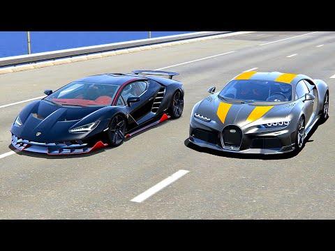 Bugatti Chiron Super Sport 300+ Vs Lamborghini Centenario - Drag Race 20 KM