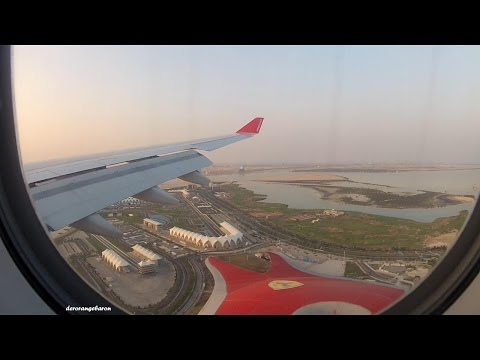Air Berlin Airbus A330-223 D-ALPH - Smooth landing at Abu Dhabi International Airport
