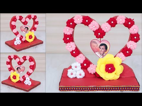 DIY Heart Shaped Photo Frame Decoration Ideas || How to Make Photo Frame at Home